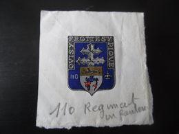 Morceau De Lettre Fanion 110 Régiment De Dunkerque - Old Paper