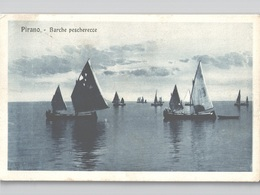 Slovenia Pirano Sailboats Barche Pescherecce Sent 1923 - Slovénie