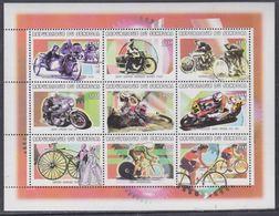 Sénégal N° 1429 / 37 : Motocyclisme Et Cyclisme, Les 9 Valeurs Se Tenant En Petite Feuille, Sans Charnière, TB - Senegal (1960-...)