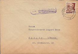 Baden Purple Boxed Cds. ESPASINGEN über RADOLFZELL / Bodensee 1948 Cover Brief SPEYER Hans Baldung Grien - French Zone