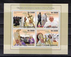 SAO TOME Et Principe  Timbres Neufs ** De 2010 ( Ref 6946 )  Religion -Pape Benoit XVI - Sao Tome Et Principe