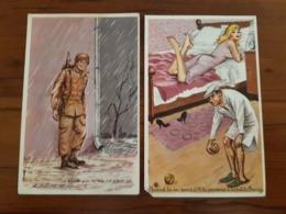 Illustrateur - Louis Carrière - 2 CP - La Santé Par La Vie En Plein Air, Pétanque, érotique, Petite Fanny - Carrière, Louis