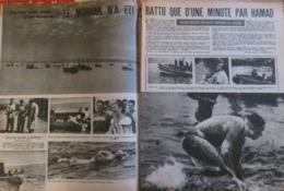 Traversée De La Manche NAGEUR NATATION    LE MORVAN  HAMAD - Old Paper