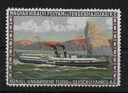 Ungarn Hungary  Königliche Fluss Und Seeschiffahrts A.G. Werbemarke Cinderella Advertisement Propaganda - Fantasie Vignetten