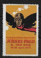 Österreich Ungarn Schichtpreis  Rundflug1914 Spendenmarke Cinderella Vignet Werbemarke Propaganda Aviation - Fantasie Vignetten