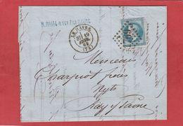 Seine-Maritime - LE HAVRE - GC 1769 Sur N°29 - LAC 19/02/1869 - Postmark Collection (Covers)