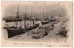 CPA ALGERIE - BONE - 10. Le Port, Vue Prise Du Fort De La Cigogne, ND Dos Simple - Algérie