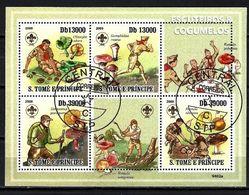 SAINT THOMAS ET PRINCE CHAMPIGNONS 2009 (55) N° Yvert 3118 à 3121 Oblitéré Used - Sao Tome Et Principe