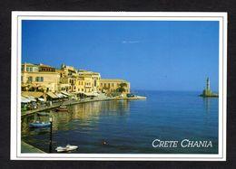 Grèce - CRETE CHANIA - Les Restaurants Le Long Du Port - Grecia