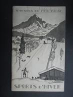 BROCHURE TOURISTIQUE France 1928 (V2010) SPORTS D'HIVER (6 Vues) CHEMIN DE FER PLM - Illustration S. ZOUCHER - Tourism Brochures