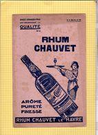 BUVARD : Rhum CHAUVET   Grand Format - Liqueur & Bière