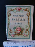 Petit Almanach 1890 Librairie Papeterie Mme E.TURBE NANTES Loire Atlantique Très Bon état Population : 38 212 903 Habts - Calendriers