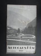 BROCHURE TOURISTIQUE France 1928 (V2010) Eté - Automne Edition Du 15 Juillet (5 Vues) AUTOCARS PLM - Tourism Brochures