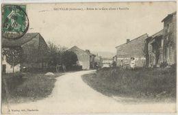 SAUVILLE ROUTE DE LA GARE ALLANT A SAUVILLE - Autres Communes