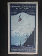 BROCHURE TOURISTIQUE France 1928 (V2010) CHAMONIX MONT-BLANC (3 Vues) AIGUILLE DU MIDI - Tourism Brochures