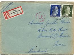 Lettre Recommandée 30/08/1943 De BAUMSCHULENWEG - AFFRANCHIE 25+30 ADOLF REICH - Allemagne