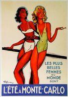 """MONTE CARLO - Edition Clouet - CARTE POSTALE MODERNE D'après """"Jean-Gabriel Domergue"""" - Reproduction Affiche Ancienne - Posters"""