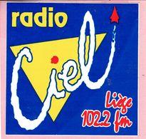 Sticker - RADIO Ciel - Liège 102.2 Fm - Stickers
