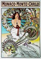 MONACO - MONTE CARLO - Edition Clouet - CARTE POSTALE MODERNE (Reproduction D'affiche Ancienne MUCHA) - Posters