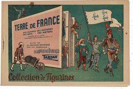 """Album De Figurines """"Terre De France"""" à Découper Et à Coller Dans Les Revues TARZAN Ou L'AUDACIEUX. 12 Pages 19/28cm - Old Paper"""
