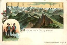 Gruss Aus Dem Salzkammergut - Litho - Altri