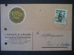 Österreich- Braun's Söhne Vöcklabruck, Ankündigungsschreiben Vom 12.11.1948 Einer Auslieferung Von Feilen - Österreich