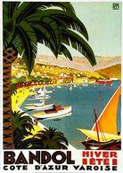 BANDOL  - Edition Clouet - CARTE POSTALE MODERNE (Reproduction D'affiche Ancienne Roger Bsroder) - Posters