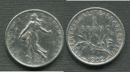 1 FRANC SEMEUSE ARGENT 1902 - Francia