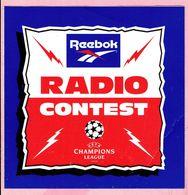 Sticker - RADIO - CONTEST - U E F A CHAMPIONS LEAGUE - Reebok - Stickers