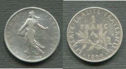 1 FRANC SEMEUSE ARGENT 1899 - Francia