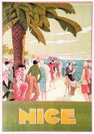 NICE - Edition Clouet  - CARTE POSTALE MODERNE (Reproduction D'affiche Ancienne Lorenzi) - Posters