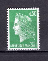 FRANCE  N° 1611    NEUF SANS CHARNIERE  COTE 0.40€   MARIANNE DE CHEFFER - 1967-70 Maríanne De Cheffer