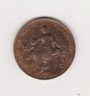 5 CENTIMES 1913 BRONZE - Francia