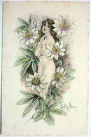 FEMME FLEUR - GASTON NOURY - Autres Illustrateurs
