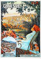 GRASSE (Côte Sud) - Edition Mic Mac - CARTE POSTALE MODERNE (Reproduction D'affiche Ancienne Dellepiane) - Posters