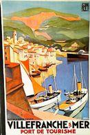VILLEFRANCHE (Côte Sud) - Edition Nugeron  - CARTE POSTALE MODERNE (Reproduction D'affiche Ancienne Roger Broders) - Posters