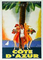 CÔTE D' AZUR - Edition Giletta  - CARTE POSTALE MODERNE (Reproduction D'affiche Ancienne DON) - Posters
