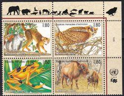 UNO-Genf, 1995, 263/66, MNH **, Gefährdete Arten (III): Fauna. - Nuevos