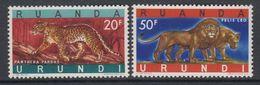 Ruanda-Urundi 1961 Leopard / Lion 2v  ** Mnh (47985E) - Ruanda-Urundi