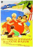 CÔTE D' AZUR - Edition Clouet - CARTE POSTALE MODERNE (Reproduction D'affiche Ancienne Béatrice Mallet) - Posters