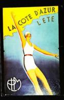 CÔTE D' AZUR Ski Nautique - Edition Nugeron - CARTE POSTALE MODERNE (Reproduction D'affiche Ancienne) - Posters