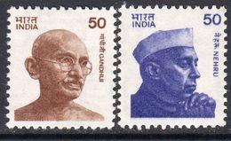 India 1983 Gandhi & Nehru Definitves Redrawnm 50p New Values Set Of 2, MNH, SG 1073/4 (D) - Indien