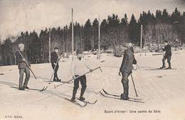 Les Rasses  - Une Partie De Skis- Scan Recto-verso - VD Vaud
