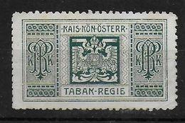 Österreich Tabak Regie Revenue Stamp Stempelmarke Fiscal - Revenue Stamps