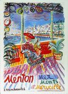 "MENTON - Edition Gilletta - CARTE POSTALE MODERNE D'après "" Constatin Terechkovitch""- Reproduction Affiche Ancienne - Posters"