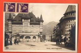 ZAO-34 Brig Brigue Bahnhofstrasse, Rue De La GAre. ANIME. Circulé Vers Paris Perrochet-Matile. Petite Fente à Gauche - VS Valais