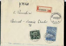 Doc. De WATERSCHEI - A A - Du 13/12/49 (exportations) En Rec. - Marcophilie