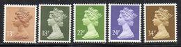 Q324B - GRAN BRETAGNA 1984, Unificato Ordinaria N. 1140/1144 ***  MNH (2380A) - 1952-.... (Elizabeth II)