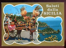 CPM Italie Saluti Dalla SICILIA Multi Vues - Italia