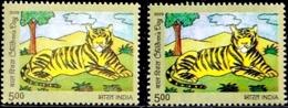 BENGAL TIGER- CHILDREN'S DAY -ERROR/ VARIETY- INDIA-2009-  MNH- SB-7 - Varietà & Curiosità